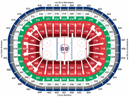 Montreal Canadiens Bell Centre Seating Layout