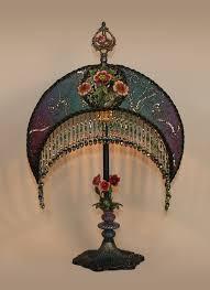 moon shaped bohemian lampshade