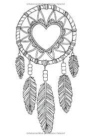 Native Dream Catchers Drawings Dream Catcher Coloring Pages Adult Coloring Page Indian Dream 62