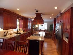 Small Long Kitchen Cherry Kitchen Cabinets Pertaining To The Most Incredible Along