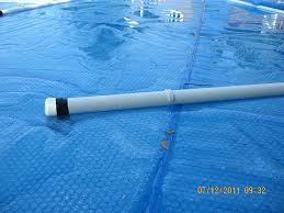 do it yourself pool cover reel as i roll one piece of the cover onto a