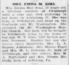 Emma Mae Sims Obituary - Newspapers.com