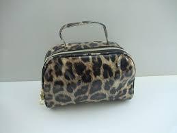 mac makeup bag leopard print yellow