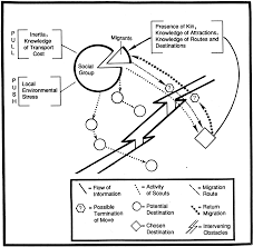 Figure 4 2 a patterned behavior diagram showing elements of migration notice the return migraion which has received little attention in archaeology but