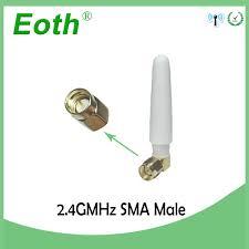 <b>10pcs 2.4GHz Antenna</b> wifi SMA Male Connector 2~3dbi 2.4 ghz ...