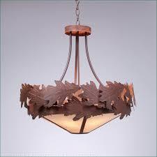 crestline chandelier small shade bottom oak leaf