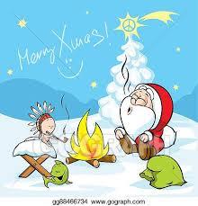 merry christmas jesus clipart. Wonderful Jesus Merry Xmas  Santa With Baby Jesus Intended Christmas Clipart