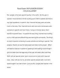 final reflexion essay