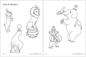 Small Picture Circus Animals Printable Templates Coloring Pages