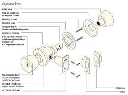 schlage locks parts diagram. Door Knob Parts Inspirational House Lock Diagram Rh  Theconsiliencegroup Com Schlage Commercial Door Handle Replacement Parts Schlage Locks E
