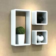 White Square Floating Shelves Interesting Floating Box Shelves Floating Cube Shelves Square Cube Floating Wall