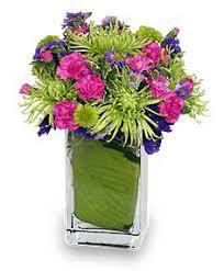 early spring green flower arrangement