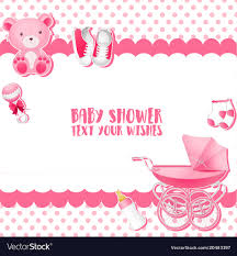 Baby Shower Invitation Cards Baby Shower Invitation Card Template Place For Te