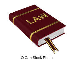 book of law isolated on a white background