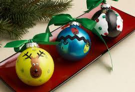 Decorating Christmas Ornaments Balls Fingerprint Homemade Christmas Ornaments AllFreeKidsCrafts 42