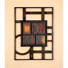 Geometric Modern Metal Abstract Wall Art 12732391 Overstock Throughout Metal  Abstract Wall Art (Image 4