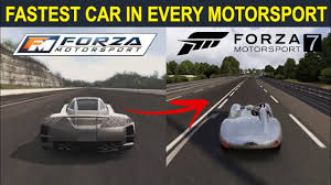 Speaking of fast, the other important koenigsegg that's available to play in forza horizon 4 is the agera rs. Fastest Car In Every Forza Motorsport 1 2 3 4 5 6 7 L Evolution Of Fastest Car In Forza Motorsport Youtube