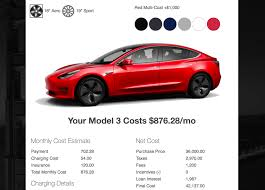 Tesla Model 3 Monthly Payment After Tax Fees Insurance And