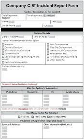 Sample Incident Report Template Laboratory Incident Report Sample