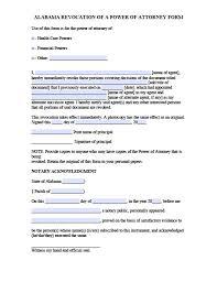alabama revocation power of attorney form