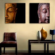 Small Picture Aliexpresscom Buy HD Oil Painting Buddha Head Decoration