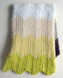 Chevron Knitting Pattern Fascinating Chevron Baby Blanket Purl Soho