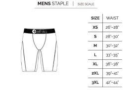 Men S Briefs Size Chart Ethika Mens The Staple