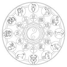 Zodiac Mandala Coloring Pages Printable Coloring For Kids 2019
