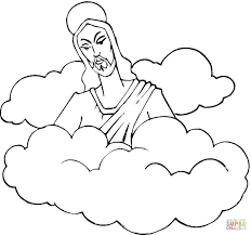 Small Picture Jesus In The Clouds coloring page Free Printable Coloring Pages