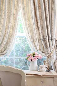 Shabby chic French country curtains