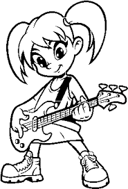 Here are few guitar coloring pages free to print featuring some of the most popular varieties of this popular musical instrument. Download Girl With Electric Guitar Coloring Page Kids Colouring Pages Guitar Electric Full Size Png Image Pngkit
