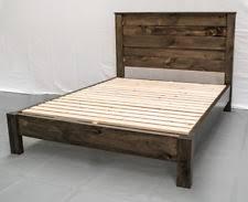 rustic farmhouse platform bed u0026 headboard full wood reclaimed solid wood platform bed queen45