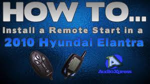 how to install a remote starter on a 2010 hyundai elantra