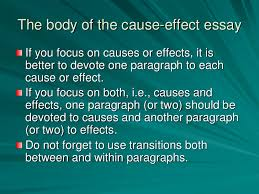 the cause effect essay  7 the body of the cause effect essay<br