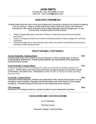 Emt Resume Template Best of Emt Resume Examples Pelosleclaire
