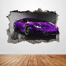 Lamborghini Wall Decal Smashed 3D ...