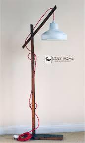 Vintage Wooden Stand Lampfloor Lamp Standing Ebay Www