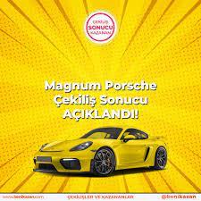 Çekiliş Sonuçları - Magnum Porsche Çekiliş Sonucu Kazananlar Açıklandı! 🔹  Çekiliş için 19 milyon 336 bin 38 şifre gönderildi. 👉👉  https://www.benikazan.com/magnum-porsche-cekilis-sonucu/ | Facebook