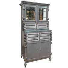 Antique Metal Dental Cabinet Exceptional Metal Dental Cabinet Signed By Lee Smith And Son