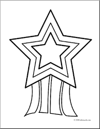 Star Award Clipart Black And White Collection