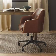 leather office. helvetica desk chair antique bronze leather molasses office