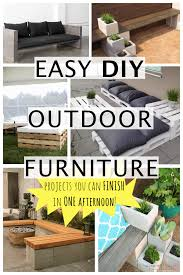 transform your deck or patio with these easy diy outdoor furniture ideas ing your own