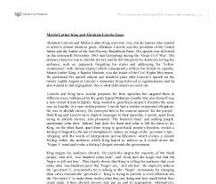 martin luther king and abraham lincoln essay a level history document image preview