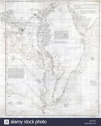Chesapeake Stock Chart 1855 U S Coast Survey Nautical Chart Or Map Of The