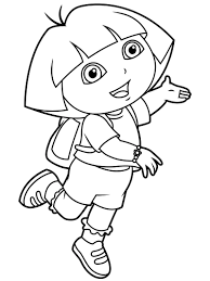 Printable coloring pages for kids. Top 20 Printable Dora The Explorer Coloring Pages Online Coloring Pages