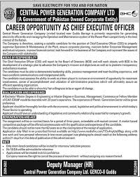 Chief Executive Officer Ceo Jobs In Central Power Generation