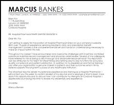 Pharmacist Cover Letter Resume Cv Cover Letter