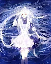 White haired female anime character HD ...