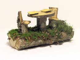 furniture fairy. woodland fairy house furniture table and chairs by betweentheweeds u