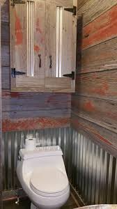Rustic Bathroom Storage Rustic Bathroomreclaimed Barn Siding And Galvanized Steel